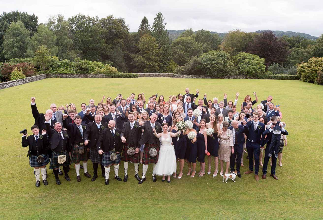 Wedding Guests on Cragwood front lawn